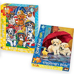 Puppies 2-Pack 60-Piece Jigsaw Puzzles