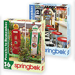 Nostalgic Themed 2-Pack 36-Piece Jigsaw Puzzles