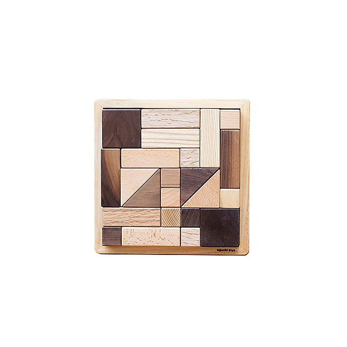 Alternate image 1 for Eguchi Toys 25-Piece Large Wood Block Puzzle
