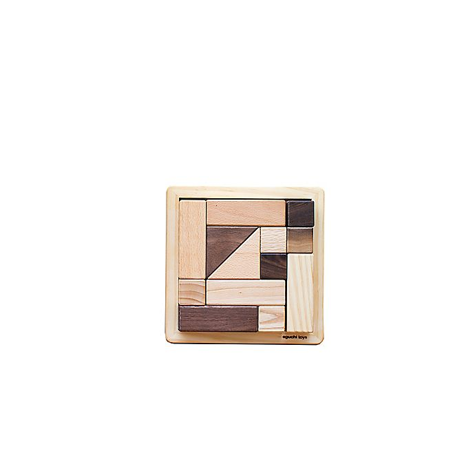 Alternate image 1 for Eguchi Toys 13-Piece Small Wood Block Puzzle