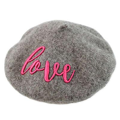 Rising Star™ Love Beret Hat in Grey