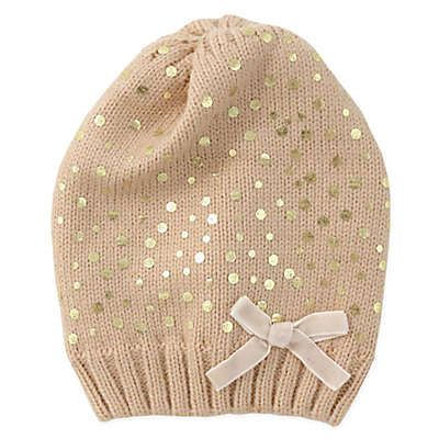 Rising Star™ Shimmering Knit Beanie in Gold
