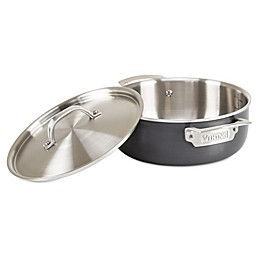 Viking® 5-Ply Stainless Cookware with Anodized Exterior & Alloy Core 4 Qt. Everyday Pan