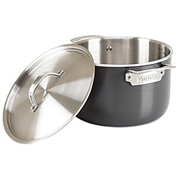 Viking® 5-Ply Stainless Cookware with Anodized Exterior & Alloy Core 7 Qt. Covered Stock Pot