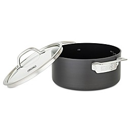 Viking® Hard Anodized Nonstick 4 qt. Covered Soup Pot in Black