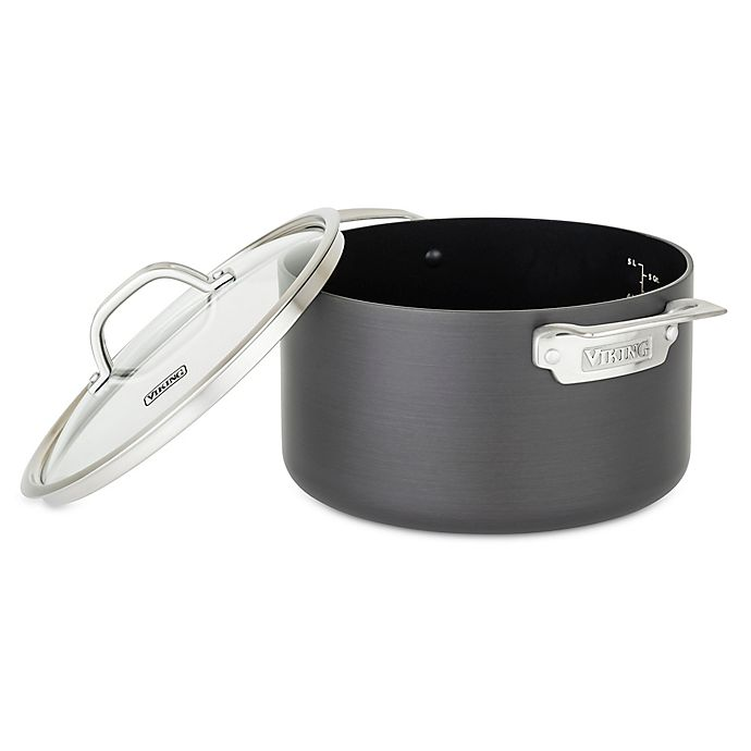 Alternate image 1 for Viking® Hard Anodized Nonstick 6 qt. Dutch Oven in Black