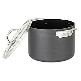 Viking® Hard Anodized Nonstick 8 qt. Covered Stock Pot in Black