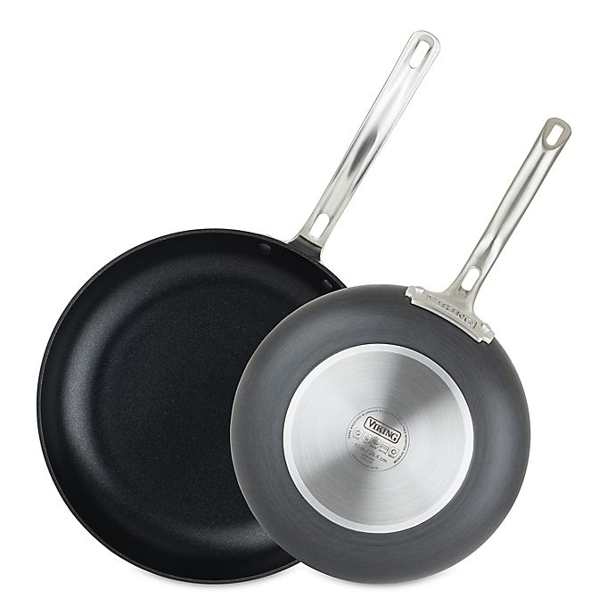 Alternate image 1 for Viking® Hard Anodized Nonstick 2-Piece Fry Pan Set in Black