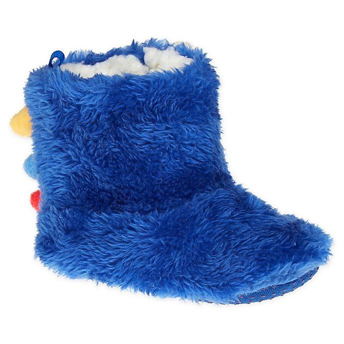 Alternate image 1 for Capelli New York Size 0-6M Dino Slipper in Blue