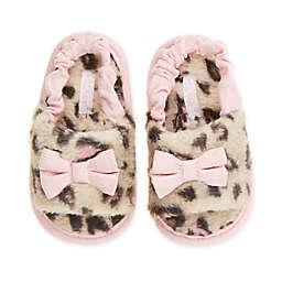 Capelli New York Size 18-24M Leopard Fur Slide in Pink
