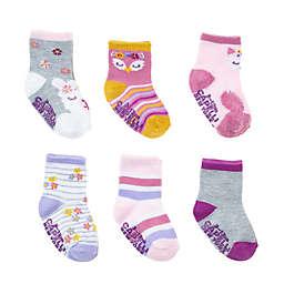 Capelli New York 6-Pack Wildflower Critter Socks