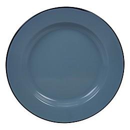 Certified International Enamelware Dinner Plates in Teal (Set of 6)