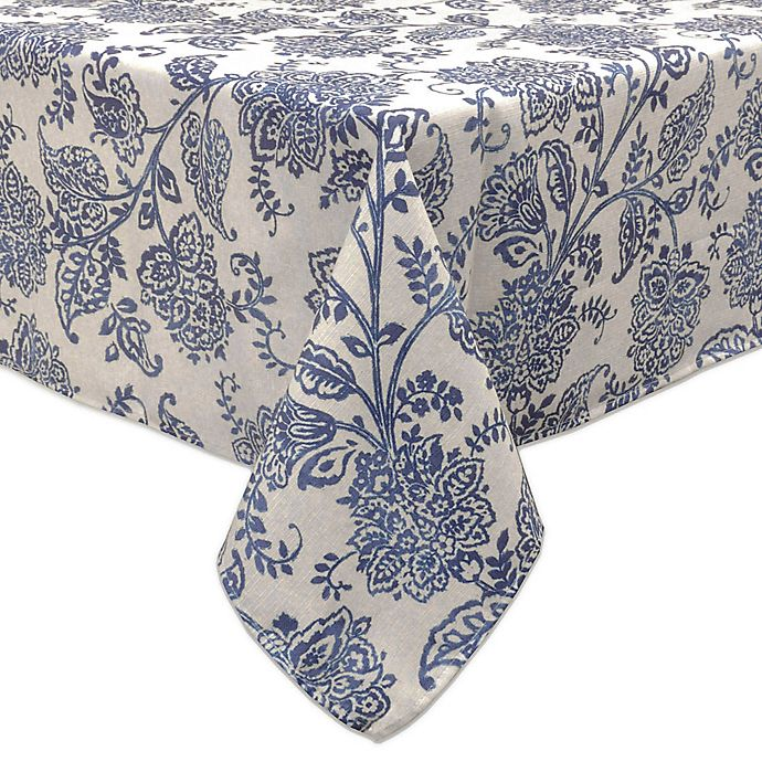 Alternate image 1 for Bardwil Linens Calendre Tablecloth in Indigo