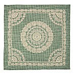 Madison Industries Morocco Canvas Placemat in Aqua