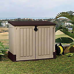 Keter SIO Midi Horizontal Storage Shed in Beige