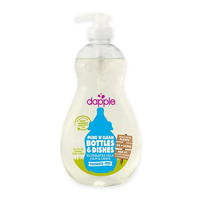 Alternate image 1 for dapple® 16.9 oz. Pure 'N' Clean Baby Bottles and Dishes Dish Liquid Cleaner in Fragrance-Free