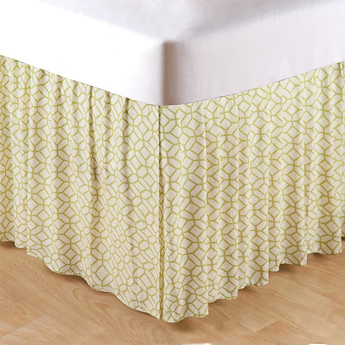 Alternate image 1 for Adrienne Meadow King Bed Skirt in Green