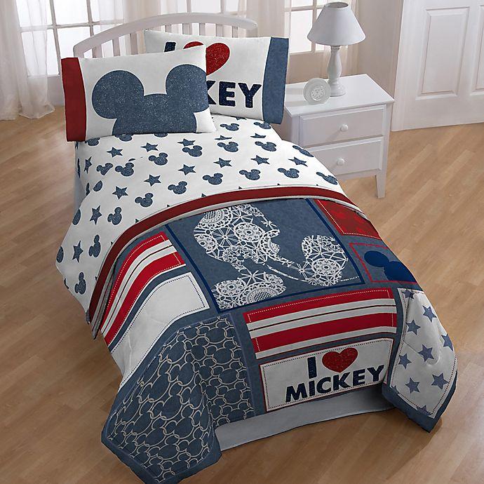 Alternate image 1 for Disney® Mickey Mouse Americana Comforter Set