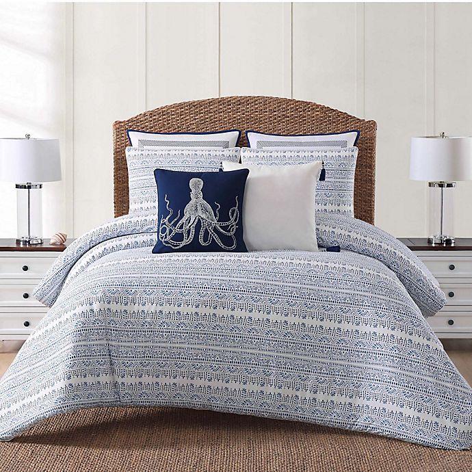 Alternate image 1 for Oceanfront Resort Reef Full/Queen Comforter Set in White/Blue