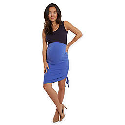 Stowaway Collection Over Under Maternity Skirt in Periwinkle
