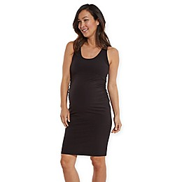 Stowaway Collection Sleeveless Maternity Dress in Black