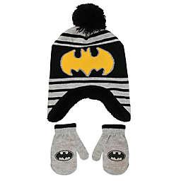Rising Star™ Batman Knit Hat and Mitten Set in Grey/Black