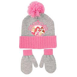 Rising Star™ Disney® Princess Hat & Mitten Set in Pink/Grey