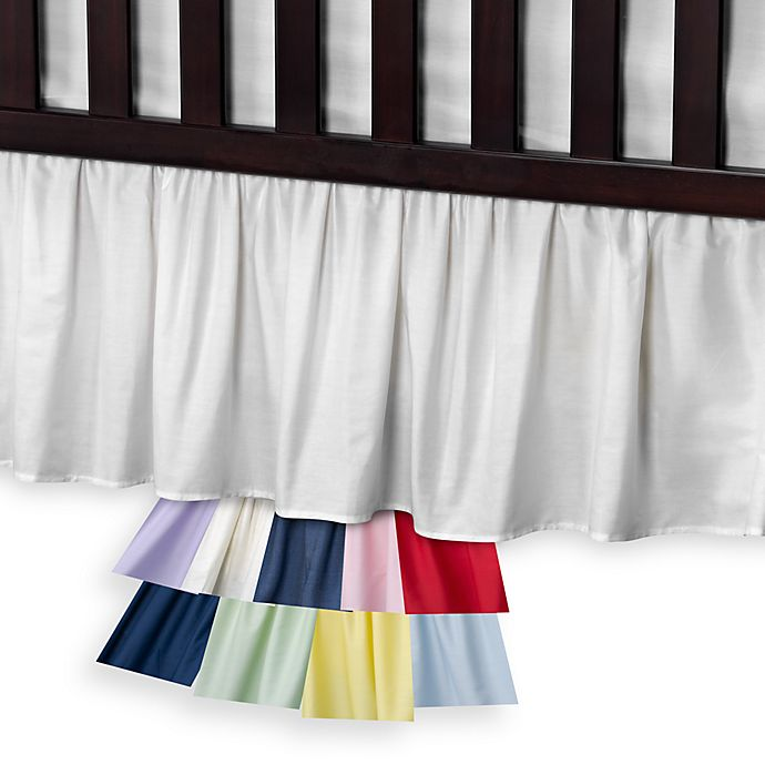 Alternate image 1 for T. L. Care Cotton Percale Crib Bed Skirt