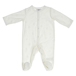 Sterling Baby Star Footie in Ivory