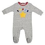 "Sterling Baby Newborn ""Super Star"" Fleece Footie in Grey"