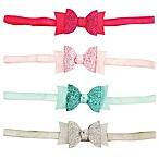 Tiny Treasures 4-Pack Mini Sparkle Bow Headbands