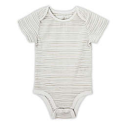 aden® by aden + anais® Short-Sleeve Stripe Bodysuit in Grey