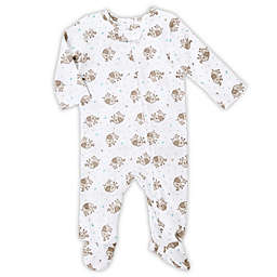 aden® by aden + anais® Long-Sleeve Elephant Footie in White
