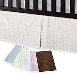 T. L. Care Heavenly Soft Minky Dot Crib Skirt