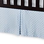 T. L. Care Heavenly Soft Minky Dot Crib Skirt in Blue