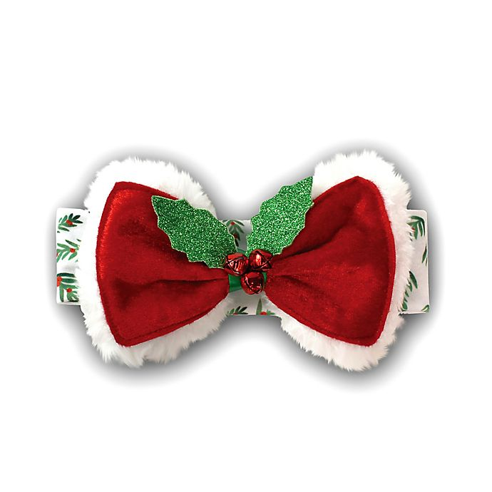 Alternate image 1 for Tiny Treasures Christmas Mistletoe Headband