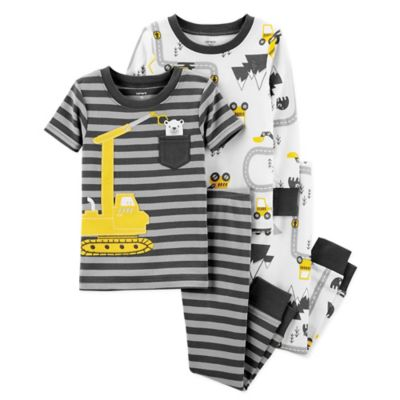926f649c3 carter's® 4-Piece Construction Snug-Fit Cotton Pajama Set in Grey/White Is  Not Available For Sale Online.