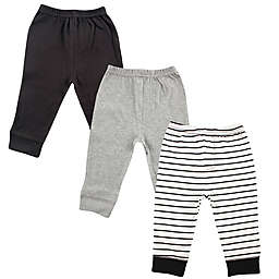 Luvable Friends® Size 3T 3-Pack Tapered Ankle Pants in Black/Grey