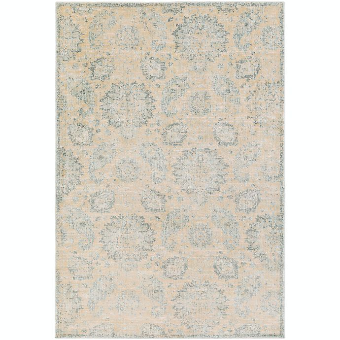 Alternate image 1 for Surya Carlisle Classic Floral 5-Foot 3-Inch x 7-Foot 3-Inch Area Rug in Cream