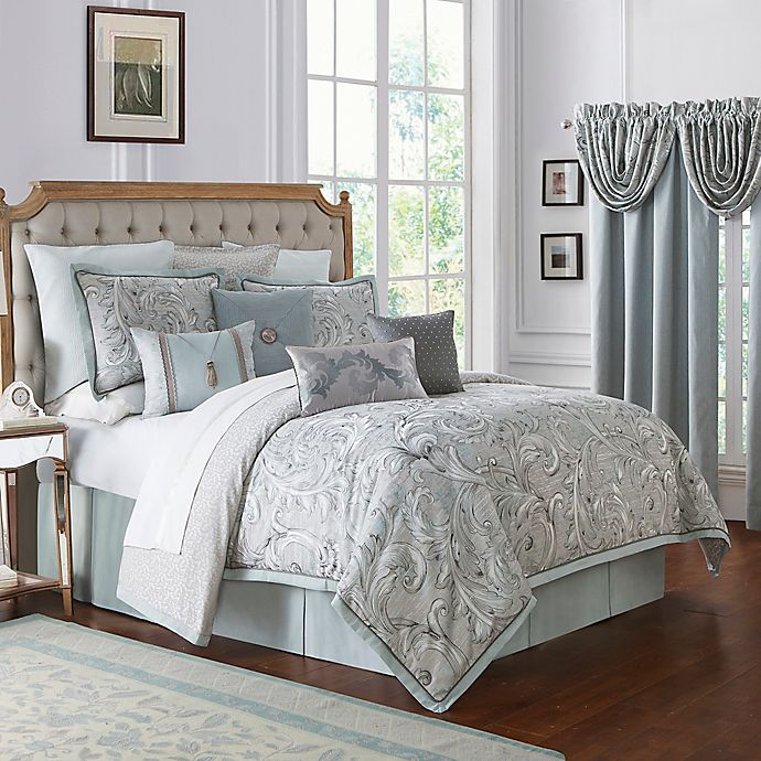Alternate image 1 for Waterford® Farrah California King Comforter Set in Aqua