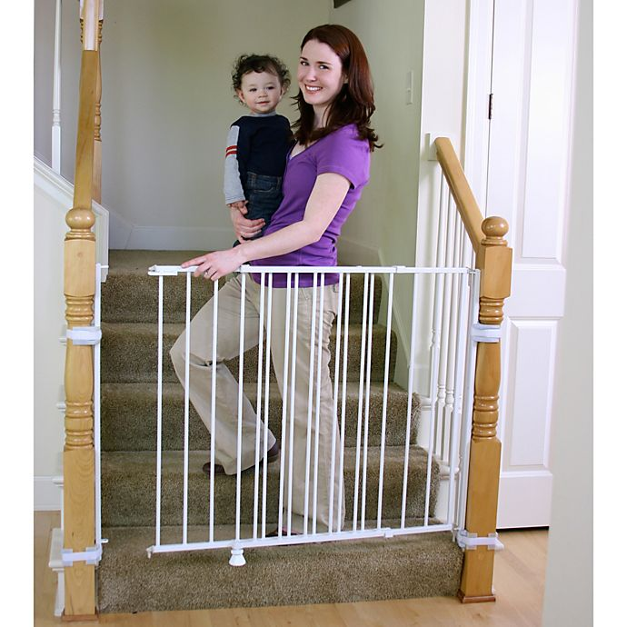 Alternate image 1 for Regalo® 2-in-1 Extra Tall Top of Stairs Gate