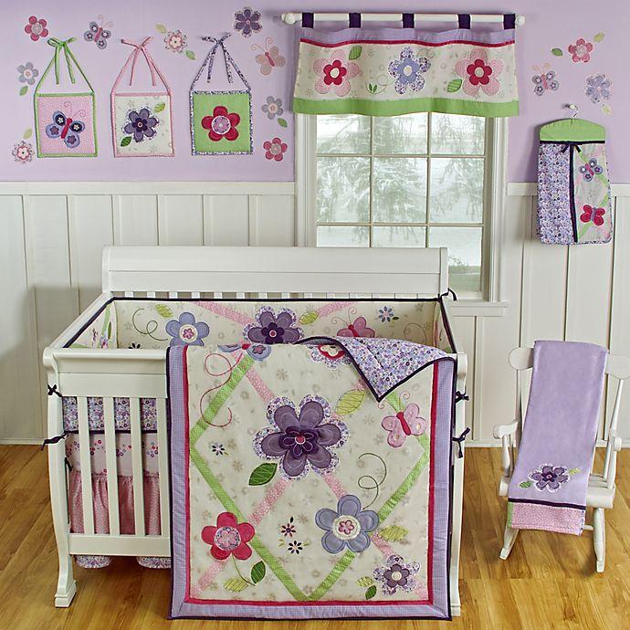 Sumersault Lily 4 Piece Crib Bedding