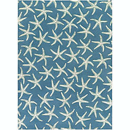 Surya Lighthouse Starfish 8' x 11' Area Rug in Blue/Green
