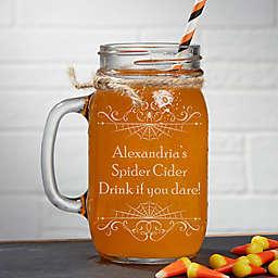 Spooky Spiderweb 16 oz. Glass Mason Jar