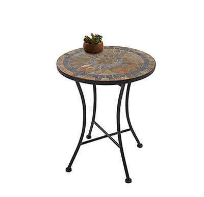 Outdoor Mosaic Stone Accent Table