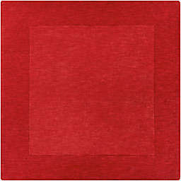 Surya Mystique Solid 8' Square Handcrafted Area Rug in Dark Red