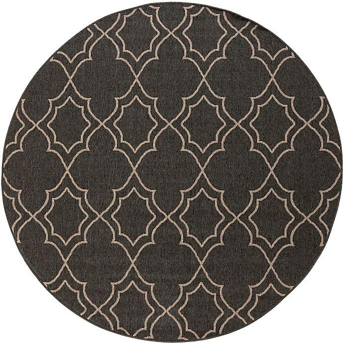 Alternate image 1 for Surya Modern Quatrefoil Indoor/Outdoor Rug in Black