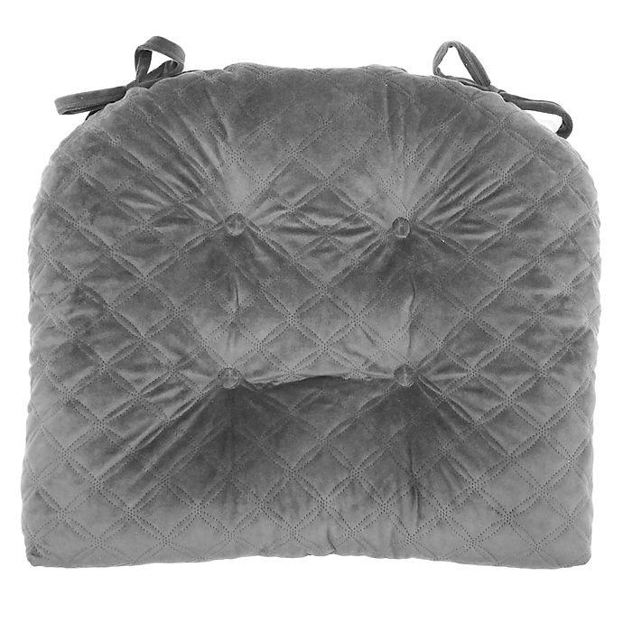 Alternate image 1 for Therapedic® Velvet Quilted Chair Pad