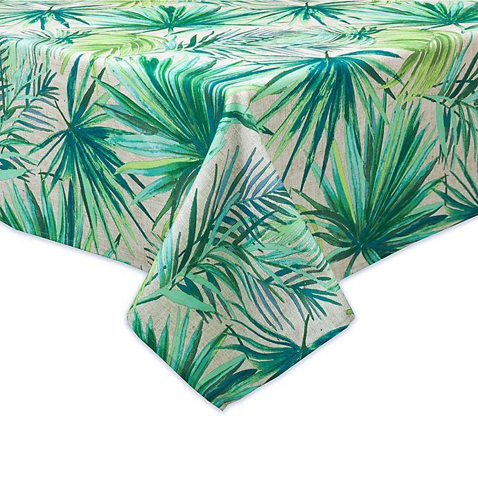 Alternate image 1 for Destination Summer Palm Garden Indoor/Outdoor Tablecloth
