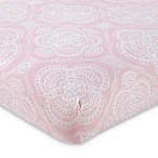 Levtex Baby Willow Medallion Fitted Crib Sheet in Pink